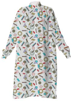 80s Memphis Milan inspired design in Pastel, seasonofvictory PAOM Print All Over Me shirt dress