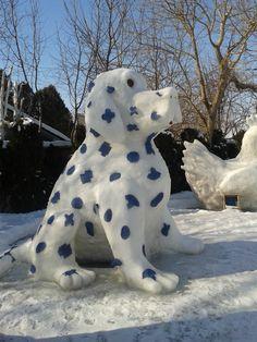 Snow sculpture 2014 Leamington...well over 10' tall
