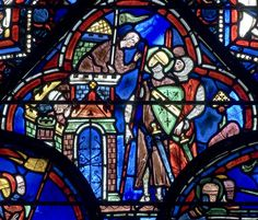 Bay 21 (The Life of St Julien the Hospitaller) Panel 14 - Julien conversing with a defender of a town he is besieging