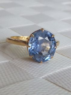 Stunning Victorian 3 Carat Sapphire 18ct Gold Ring | eBay