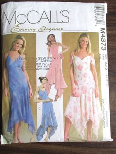 McCall's Sewing Pattern Ladies Dress sizes 4,6,8,10, No. M4373 #McCalls