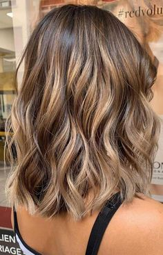 balayage hair color, fabmood, light brown hair color ideas, hair colours 2019 hair color trends, best hair color for fall hair colors Hair Color Ideas For Brunettes Balayage, Brown Hair Balayage, Hair Color Balayage, Ombre Hair, Wavy Hair, Thick Hair, Baylage Short Hair, Highlights For Brunettes, Balayage Hair Brunette Caramel