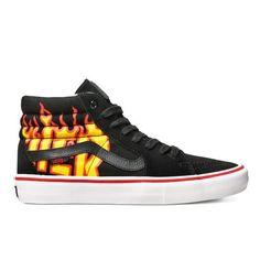 VANS X THRASHER Chaussures Sk8-Hi PRO noir flamme 95,00 € #skate #skateboard #skateboarding #streetshop #skateshop @playskateshop