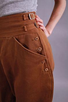1930s pants. 1930s equestrian jodhpurs. vintage cropped riding pants. Derby Girl. $186.00, via Etsy.