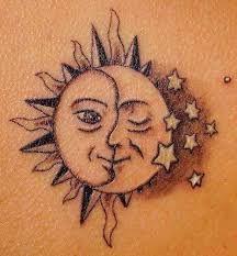 Resultado de imagem para tatuagem sol e lua