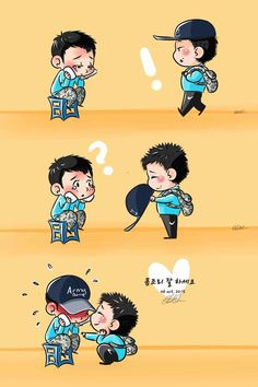 [Fanart] Yunho gave JJ his cap cause poor JJ suffering sun allergy so sweet  (´▽`ʃƪ) [LeeBbeunee33] #SeeUAgainYUNJAE