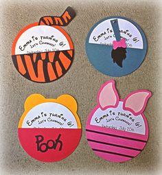 Winnie el Pooh invitaciones de carácter por BooBooBeanCreations