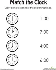 Worksheets Telling Time Worksheets Kindergarten telling time clock later and earlier sheet 1 math pinterest worksheets match the ii