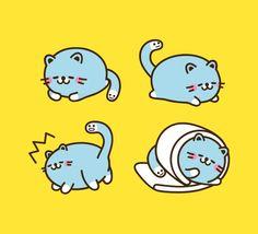 Dinocat (꼬리공룡 디노캣)_Cat Character, Dinosaur Character,고양이 캐릭터,공룡 캐릭터 Character Symbols, Cat Character, Character Design, Mascot Design, Emoticon, Character Illustration, Cartoon Characters, Watercolor Paintings, Dog Cat