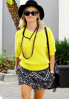 Reese Witherspoon in our Printed Shorts