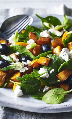 A really hearty, filling salad with butternut squash and goats' cheese is what you need for spring days.