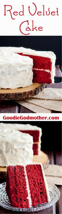 Perfect Red Velvet Cake Recipe FROM SCRATCH! Just the right hint of chocolate with a kick, it's everything you'd want from a classic Southern red velvet. Bakes perfectly as a layer cake or cupcakes wi (Chocolate Torte Decoration) Perfect Red Velvet Cake Recipe, Red Velvet Cake Recipe From Scratch, Cake Recipes From Scratch, Wedding Cakes With Cupcakes, Cupcake Cakes, Wedding Cookies, Cake Wedding, Delicious Desserts, Dessert Recipes