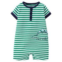 Just One You™Made by Carter's® Newborn Boys' Striped Dinosaur Romper Target Baby, Baby Boy Outfits, My Boys, Rompers, One Piece, Newborn Boys, Mens Tops, Clothes, Shopping