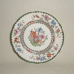 Antique China Rose Pattern  sc 1 th 225 & Antique Rose Khaki Dessert Plate Set of 4 PIP51001018 | layla grace ...