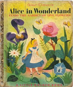 Alice in Wonderland little golden book