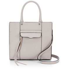 Rebecca Minkoff M.A.B. Tote Mini ($130) ❤ liked on Polyvore featuring bags, handbags, tote bags, bolsas, totes, white handbags, mini tote bag, white tote, rebecca minkoff and structured tote