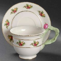 Old Country Roses Floral Footed Cup & Saucer Set by Royal Albert   Replacements, Ltd. Cup And Saucer Set, Tea Cup Saucer, Tea Cups, Royal Albert, Fine China Dinnerware, Teapots And Cups, Tea Art, My Cup Of Tea, China Patterns