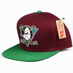Anaheim Mighty Ducks Snapback Hat on Etsy 6d3c570e4