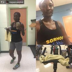 Repost from @nspencerphd Excellent spin class today! Love my new shirt from @burningsands #fitstagram #fitnessjourney #blackgirlsrun #sgrho