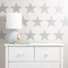 Shop Star Bright Wall Decal (Silver).  Sadly, our Star Bright Silver Wall Decals don't grant wishes.  Unless your wish is to have a set of 15 charming star decals to stick on your wall.