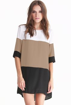 Shop White Coffee Black Color Block Dress online. Sheinside offers White Coffee Black Color Block Dress & more to fit your fashionable needs. Free Shipping Worldwide!