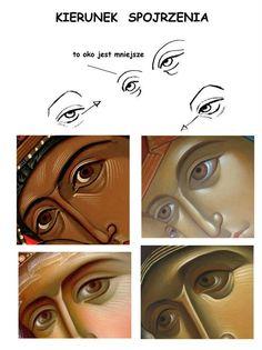 Religious Images, Religious Icons, Religious Art, Byzantine Icons, Byzantine Art, Writing Icon, Paint Icon, Eye Details, Character Design Animation