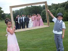 Frame wedding photo