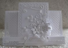 pamscrafts: White on White Birthday Card.