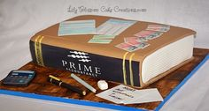 Accountants Book Cake which would wow your guests at any event or special occasion, they won't believe it's a cake!