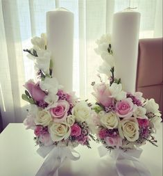 Candle Wedding Centerpieces, Diy Candles, Reception Decorations, Pillar Candles, Glamour Decor, Event Styling, Cute Christmas Wallpaper, Candle Art, Flower Fairies