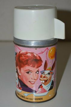 Vintage 1963 Shari Lewis And Her Friends Metal Thermos for Vinyl Lunchbox HTF Shari Lewis, Barbie Skipper, Big Bird, Peanuts Snoopy, Vintage Metal, Cork, Lunch Box, Friends, Ebay