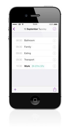 time tracking app iphone 2012