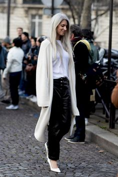 On the street at Paris Fashion Week. Photo: Imaxtree.