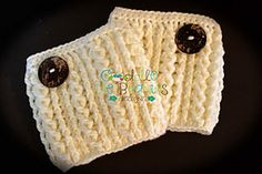 $5 RAVELRY -- Ravelry: Baby It's Cold Outside Boot Cuffs pattern by April Bennett with Cuddle Me Beanies