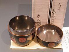 茶道具 大棗 Matcha, Japanese Tea Ceremony, Tea Box, Utensils, Dog Bowls, Objects, Bronze, Pottery, Ceramics