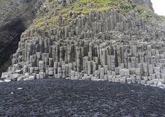 Columnas de basalto en Reynisfjara, Vestur-Skaftafellssysla, #Islandia