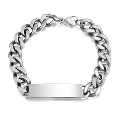 Engrave this bracelet for your man with something special ;)