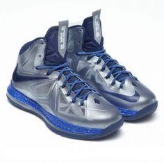 Lebron shoes 2013 Lebron 10 Metallic Silver Blue Black