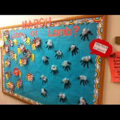 March bulletin board...other side.