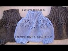 CALZON HUGUI (AGUJAS RECTAS) - ESPAÑOL-ENGLISH PATTERN - YouTube