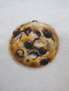 Chocolate Chip Cookie Painting Dessert Illustration by Ksushop Cookie Drawing, Cupcake Drawing, Kid Cupcakes, Wedding Cakes With Cupcakes, Chocolate Cupcakes, Chocolate Chip Cookies, Chocolate Chips, Cupcake Cake Designs, Cupcake Illustration
