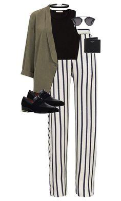 кардиган, оксфорды / лоферы, брюки в полоску,  Topshop, Yves Saint Laurent and Christian Dior