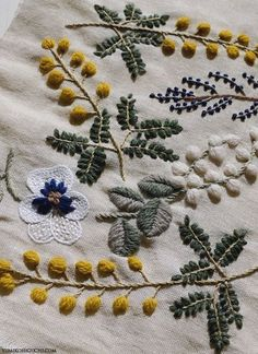 embroidery spring flower by yumiko higuchi.