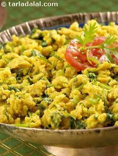 Dhania ki subzi is a traditional maharashtrian preparation, which can used as an accompaniment or as a snack. It can be prepared very easily and quickly as it uses common ingredients like coriander and gram flour.