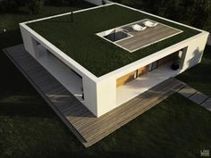 PATIO HOUSE is a one-storey residence with a roundabout gallery, patio, and terrace for areas with a warm and dry climate.