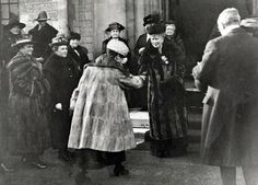 Queen Mary visits the Royal Wanstead School – now the site of Snaresbrook Crown Court – in the 1920s