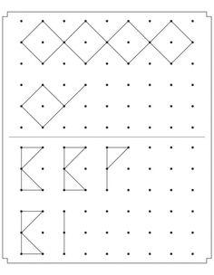 Join the dots to complete the patterns Symmetry Worksheets, Art Worksheets, Preschool Worksheets, Visual Perceptual Activities, Brain Activities, Preschool Activities, Teaching Handwriting, Math Patterns, Fine Motor Skills Development