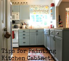 Cottage4C LOVE THIS BLOG! Tips for Painting Kitchen Cabinets