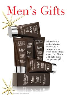 organic pharmacy men's line. these products smell amazing! favorites of both Dr. Prischmann and Jillian's husbands.