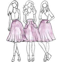 Veronika skirt sewing pattern [FREE]